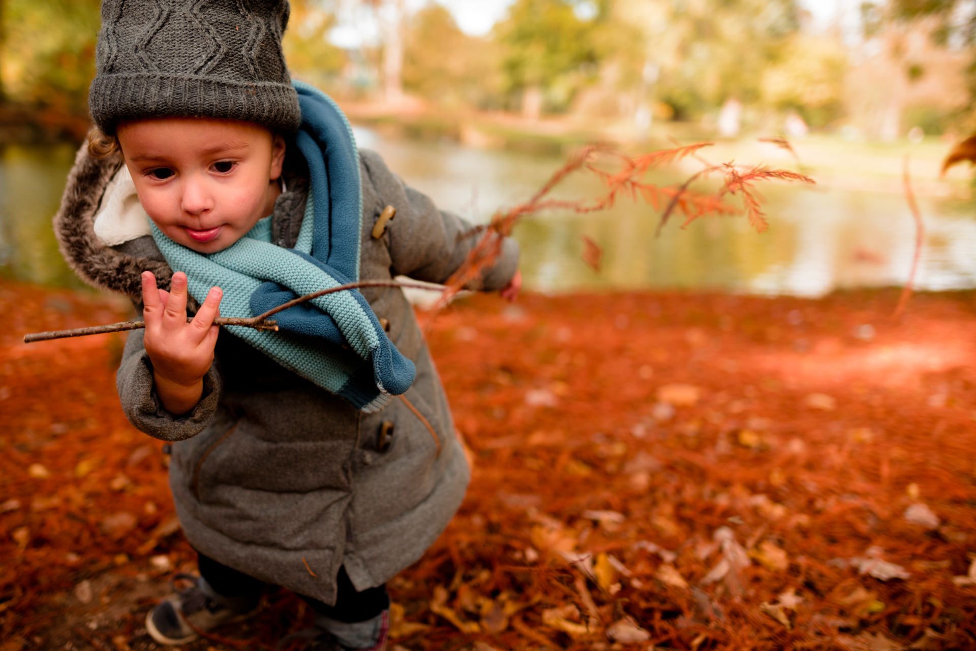 Photographe séance Yvelines automne Vésinet Chatou bébé famille