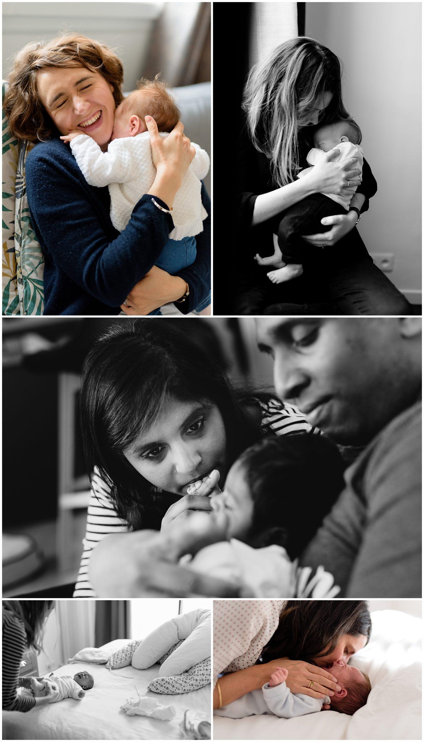 Nouveau-né reportage photo photographe connexion Yvelines paris hauts-de-seine naissance maman instant Sandrine Siryani